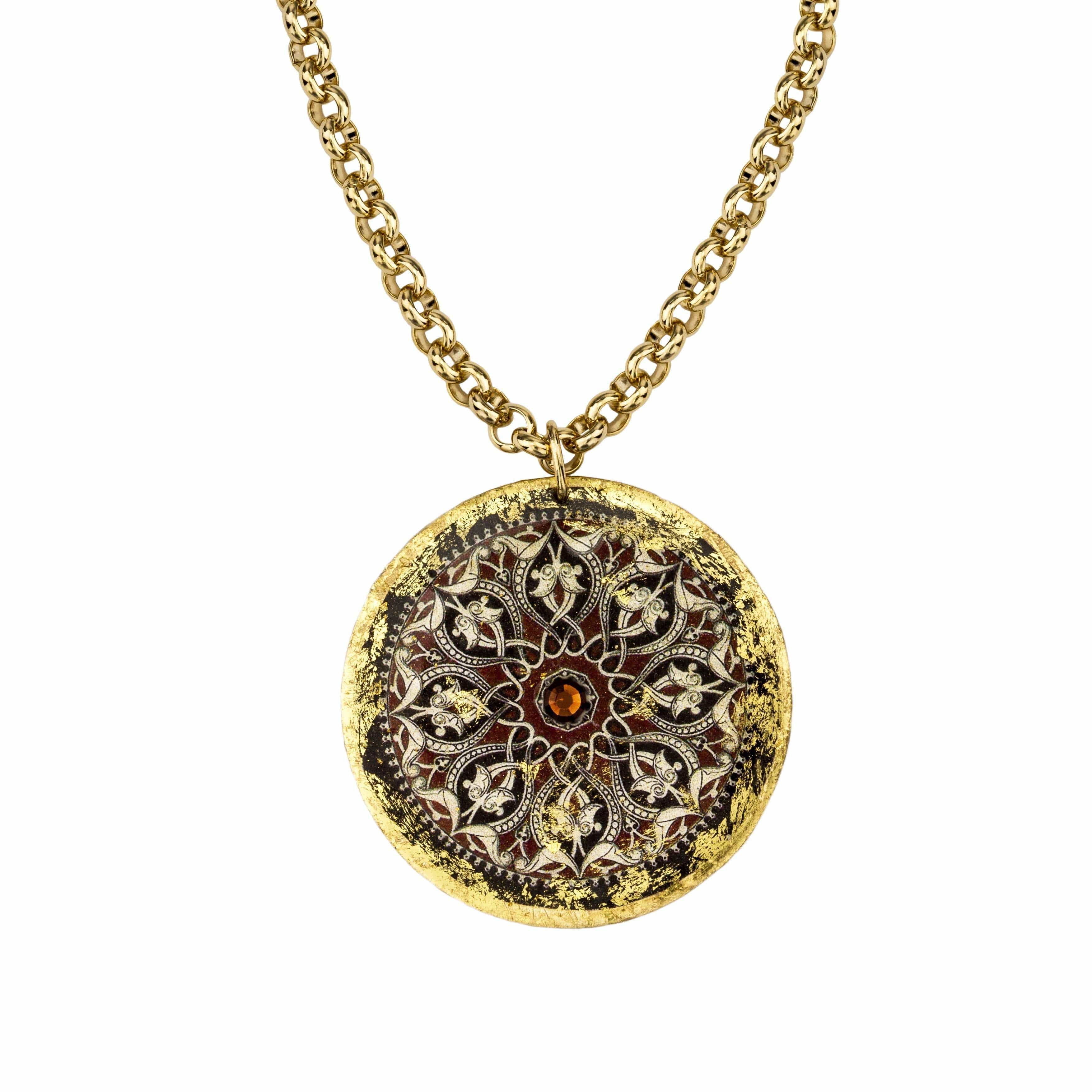 "The Moors Pendant 17"" Gold - AC215-Evocateur-Renee Taylor Gallery"