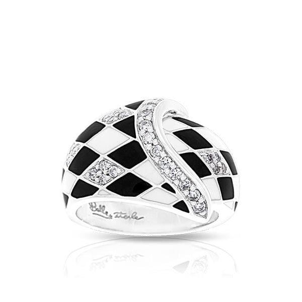 Tivoli Black & White Ring-Belle Etoile-Renee Taylor Gallery