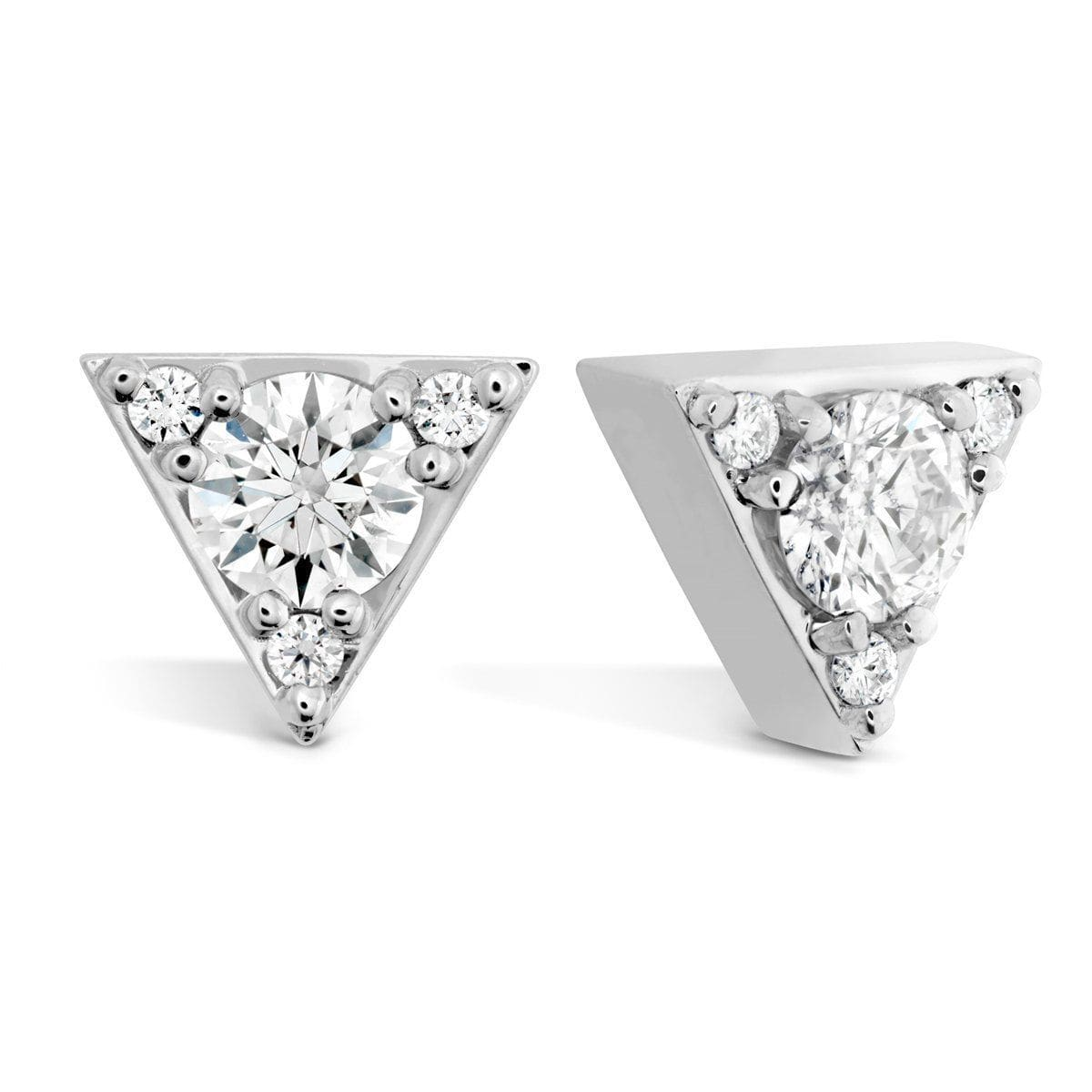 Triplicity Triangle Diamond Stud Earrings - HFETRIT00308-Hearts on Fire-Renee Taylor Gallery