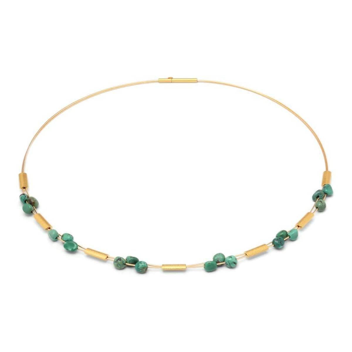 Tripota Green Turquoise Necklace - 85331356-Bernd Wolf-Renee Taylor Gallery