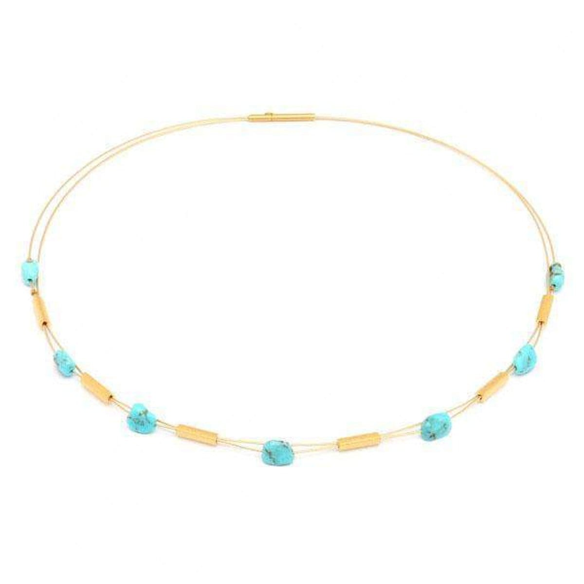 Tritura Turquoise Necklace - 85332256-Bernd Wolf-Renee Taylor Gallery