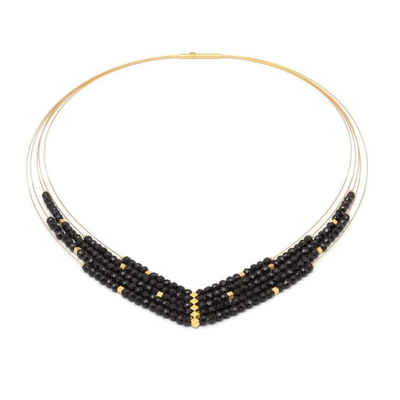 Valena Black Spinel Necklace - 86021496-Bernd Wolf-Renee Taylor Gallery