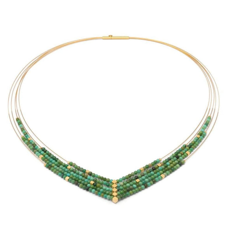 Valena Green Turquoise Necklace - 86021356-Bernd Wolf-Renee Taylor Gallery