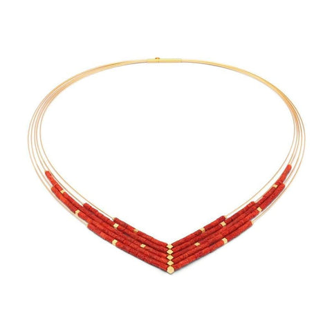 Valena Red Coral Necklace - 86021296-Bernd Wolf-Renee Taylor Gallery
