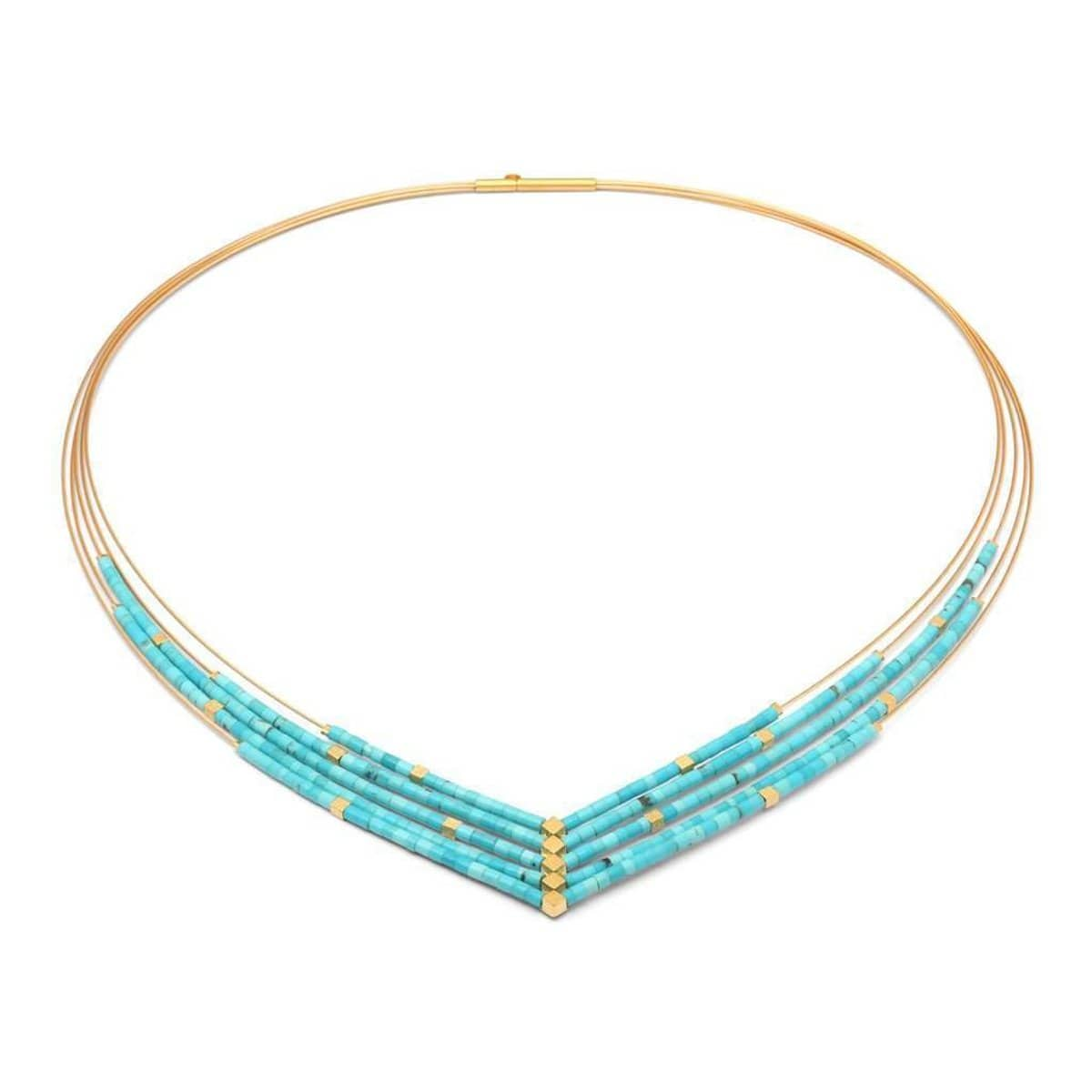 Valena Turquoise Necklace - 86021256-Bernd Wolf-Renee Taylor Gallery