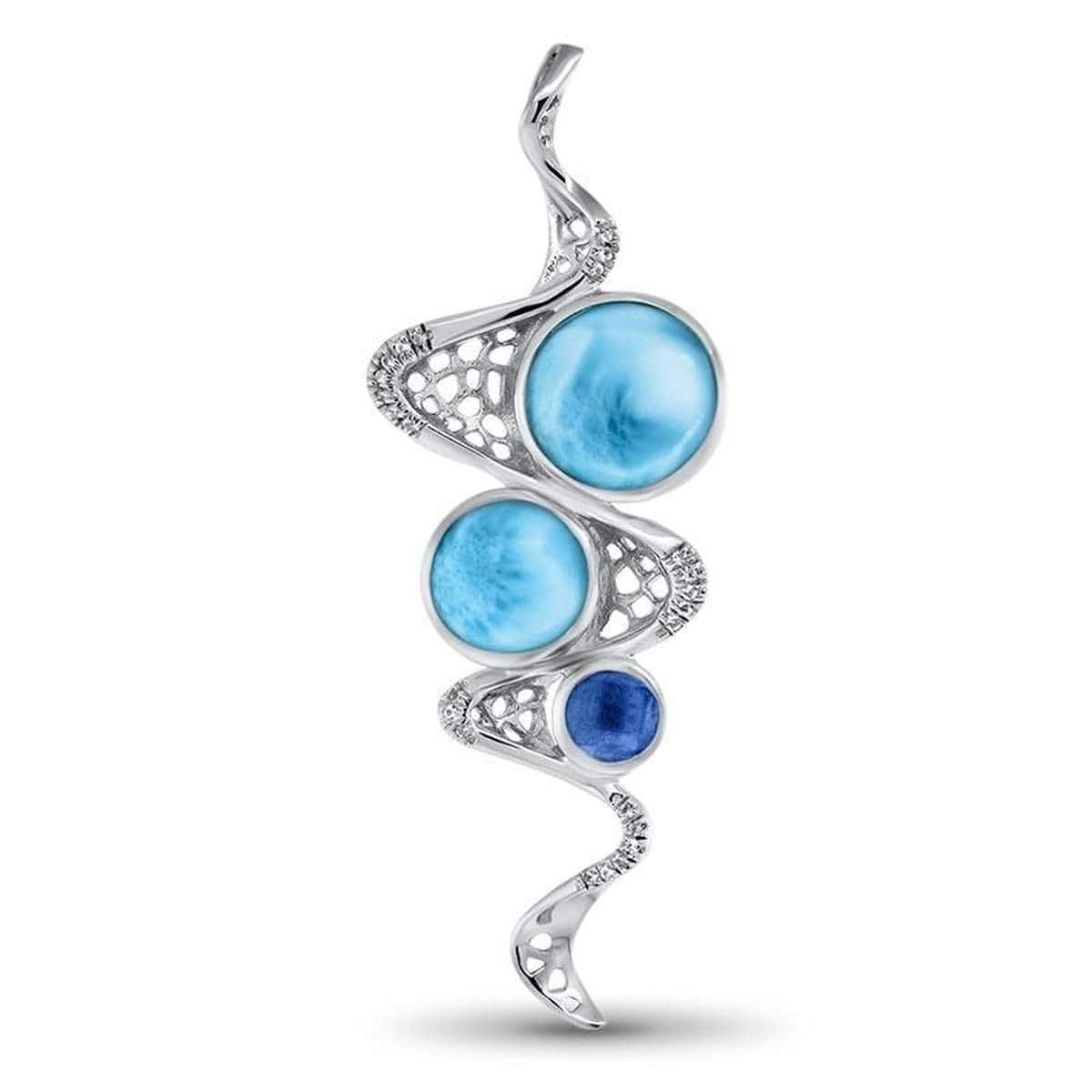 Versailles Blue Spinel Necklace - Nvers00-00-Marahlago Larimar-Renee Taylor Gallery