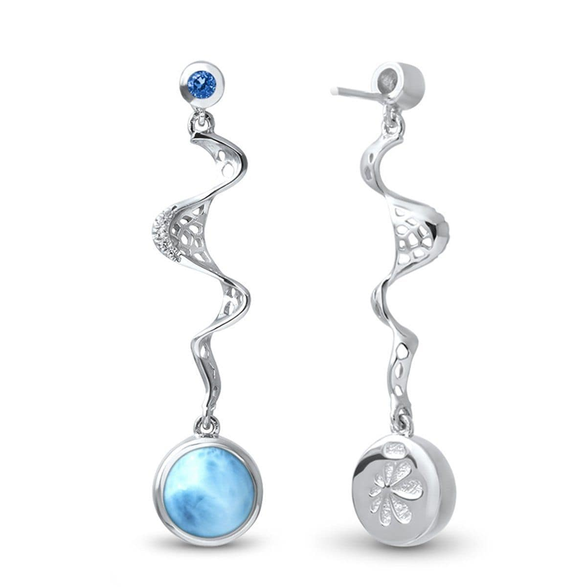Versailles Earrings - Evers00-00-Marahlago Larimar-Renee Taylor Gallery