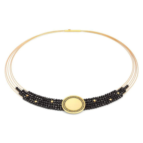 Victoria Black Spinel Necklace - 86015496-Bernd Wolf-Renee Taylor Gallery
