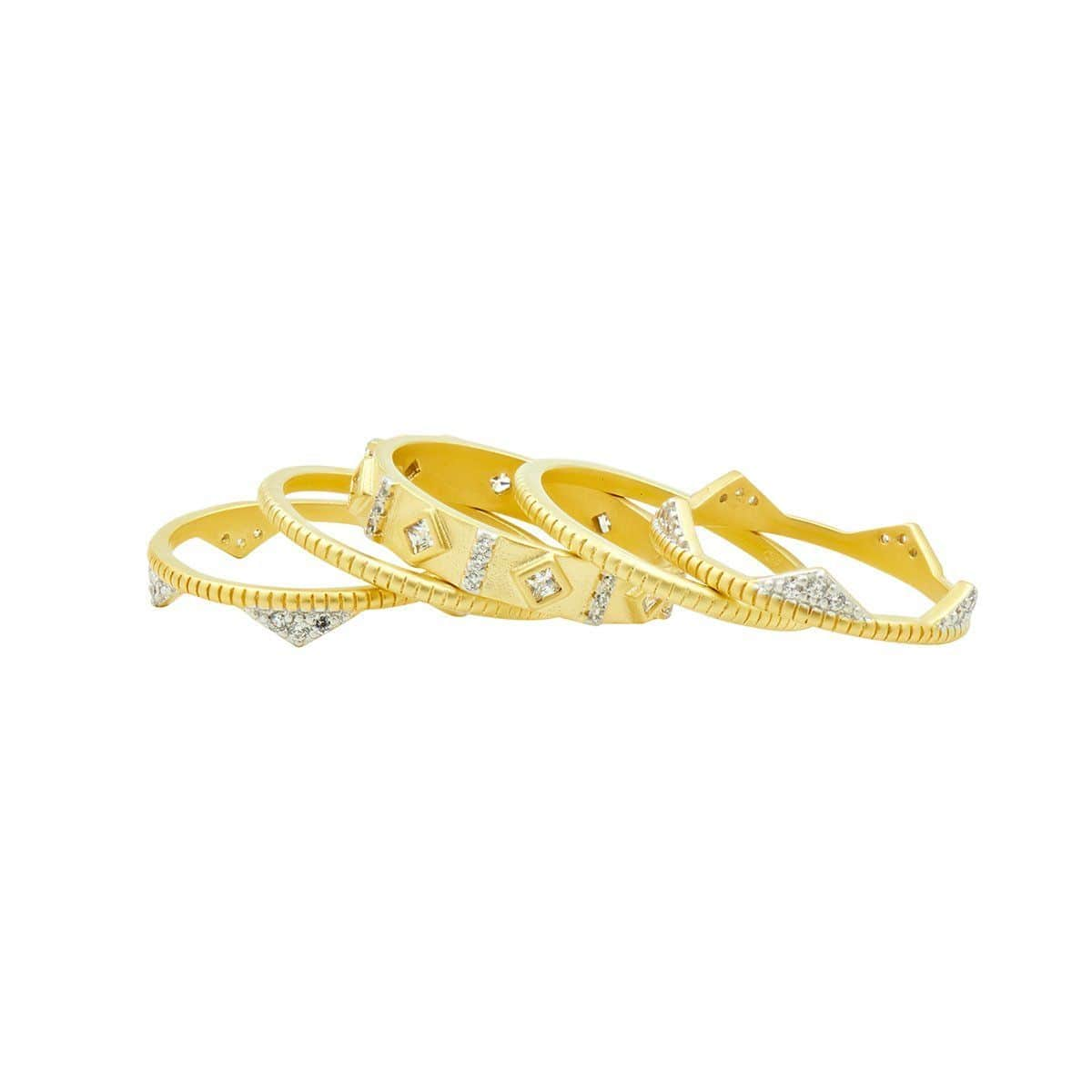 Visionary Fusion Crown Stack (Set of 5) Rings - VFPYZR01