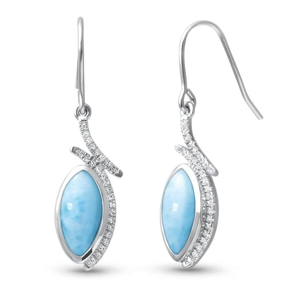 Vista White Sapphire Earrings - Evist00-00-Marahlago Larimar-Renee Taylor Gallery