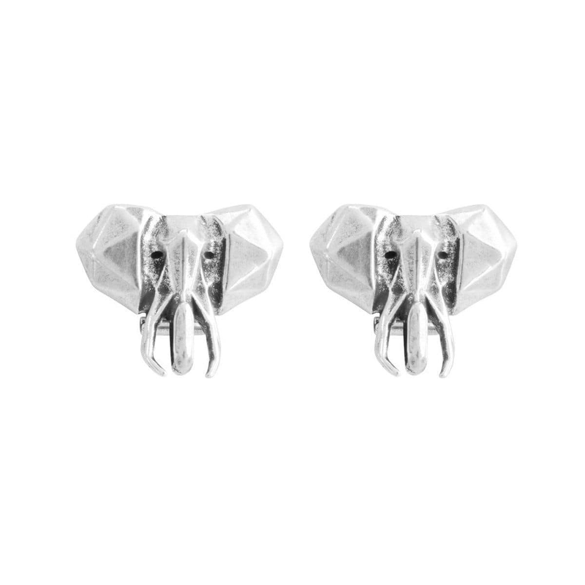 Wakiche Layered Silver Earrings - PEN0529MTL0000U-UNO de 50-Renee Taylor Gallery