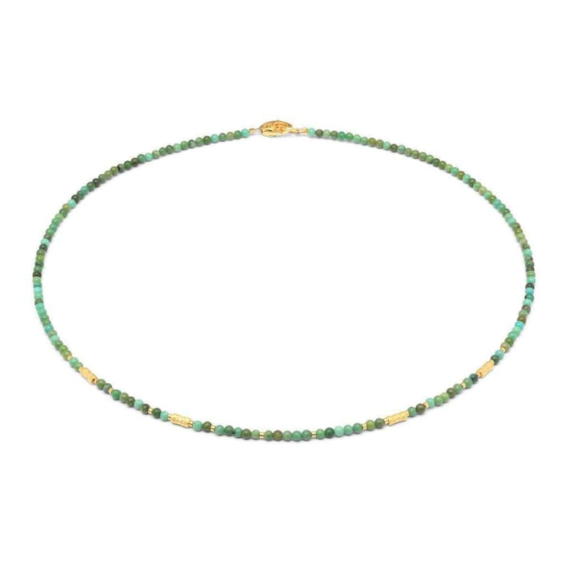 Wasena Green Turquoise Necklace - 84462356-Bernd Wolf-Renee Taylor Gallery