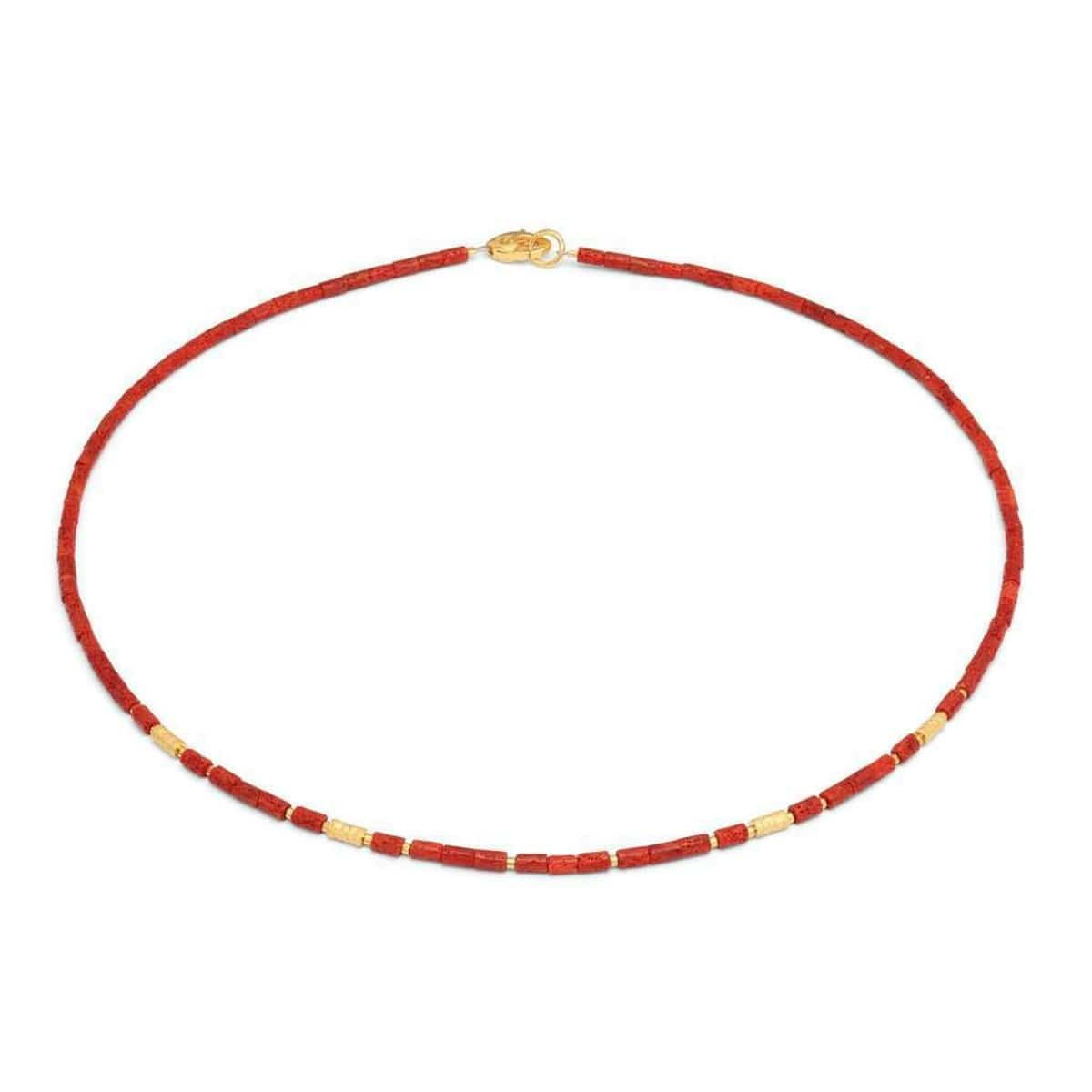 Wasena Red Coral Necklace - 84462296-Bernd Wolf-Renee Taylor Gallery