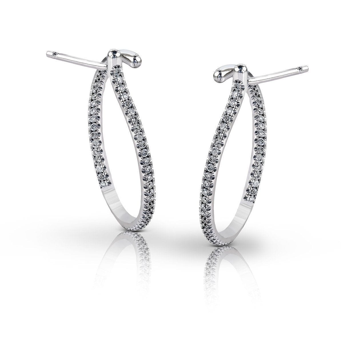 White Gold & Diamond Earrings - GE165-W-Simon G.-Renee Taylor Gallery