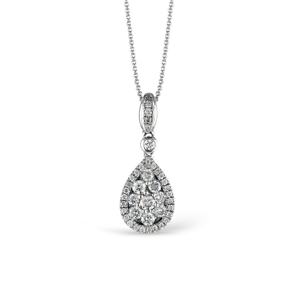 White Gold & Diamond Pendant - LP4247-W - Simon G.