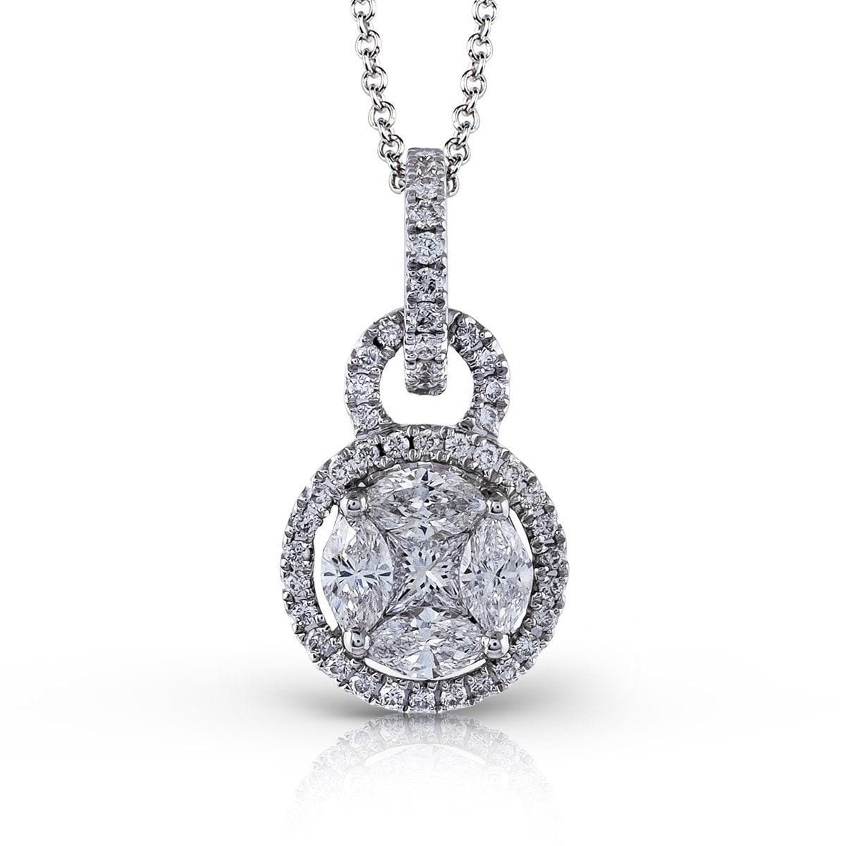 White Gold & Diamond Pendant - MP1507-W