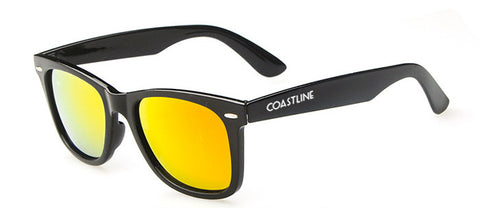 The Newport - Wayfarer Sunglasses Yellow Mirror