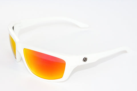 The Islamorada- Floating Sunlgasses White Frame/Red Mirror Lens