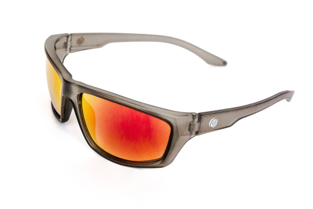 The Islamorada- Floating Sunglasse Gray Frame/ Red Mirror Lens