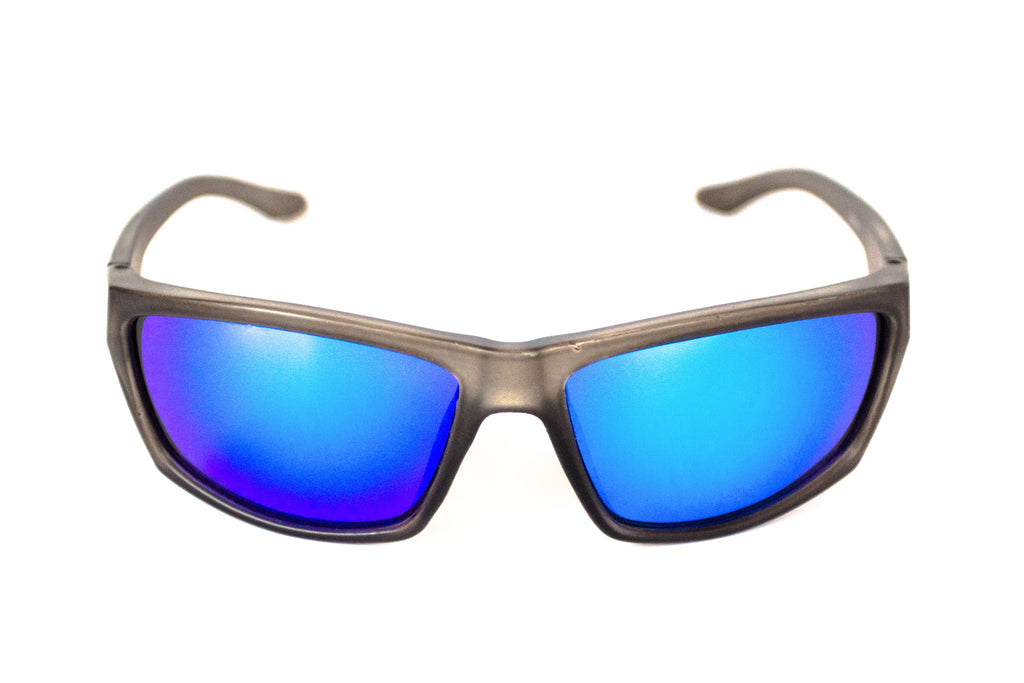 The Islamorada- Floating Sunglasses Gray Frame/ Blue Mirror Lens