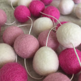 Felt Ball Garland - Pink Pop Accessories Winston + Grace