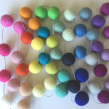 Felt Ball Garland - Over the Rainbow Accessories Winston + Grace
