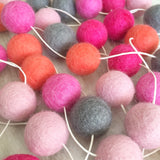 Felt Ball Garland - Pink Coral Accessories Winston + Grace