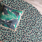 Felt Ball Rug - Sea of Green  Winston + Grace