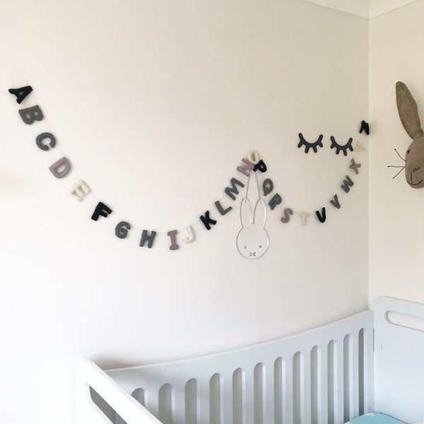 Felt Alphabet Garland - Mighetto's Mood Accessories Winston + Grace
