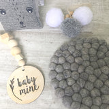 Felt Ball Mini Mat - Scandi Grey  Winston + Grace