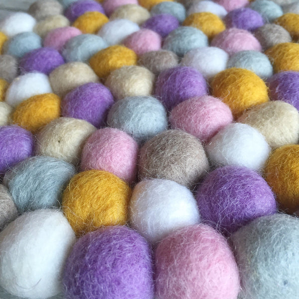 Felt Ball Rug - Autumn Love  Winston + Grace