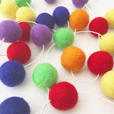 Felt Ball Garland - Rainbow Love Accessories Winston + Grace