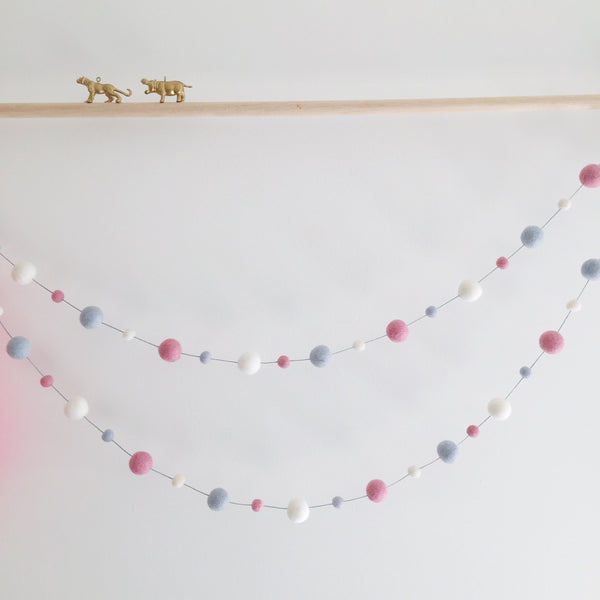 Felt Ball Garland - Pink Galah Accessories Winston + Grace
