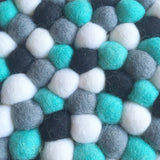 Felt Ball Rug - Pepper and Mint  Winston + Grace