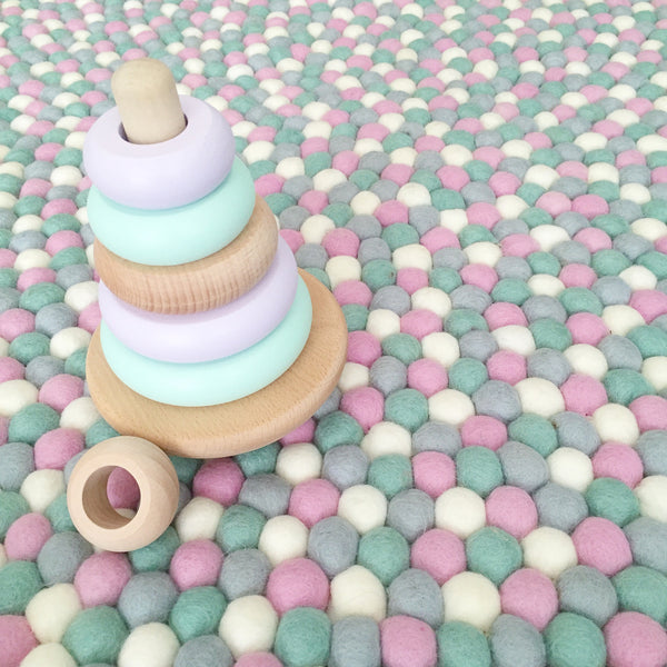 Felt Ball Rug - MintMallow  Winston + Grace