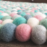 Felt Ball Rug - Mint and Musk  Winston + Grace