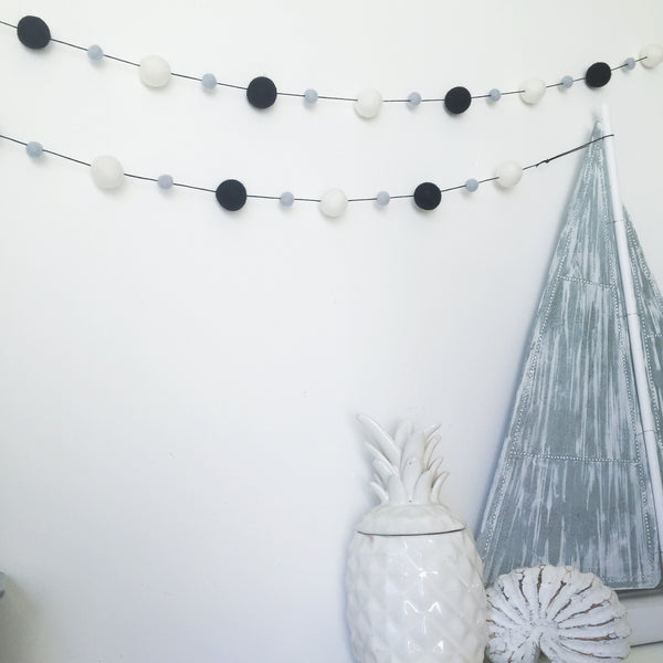 Felt Ball Garland - Mono Pop Accessories Winston + Grace