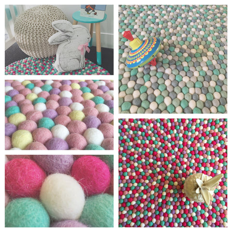 Felt Ball Rug - Custom Design - Winston + Grace