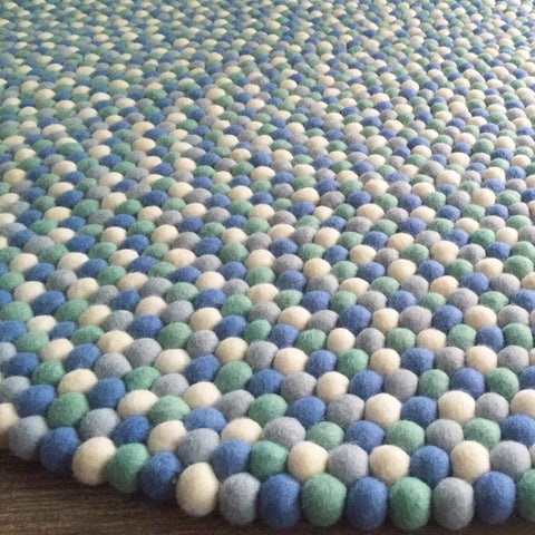 Felt Ball Rug - Little Boy Blue - Winston + Grace