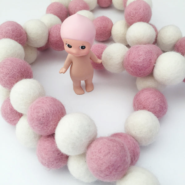 Bunchie Felt Ball Garland - Candy Striper Accessories Winston + Grace
