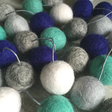 Felt Ball Garland - Stormy Blues Accessories Winston + Grace