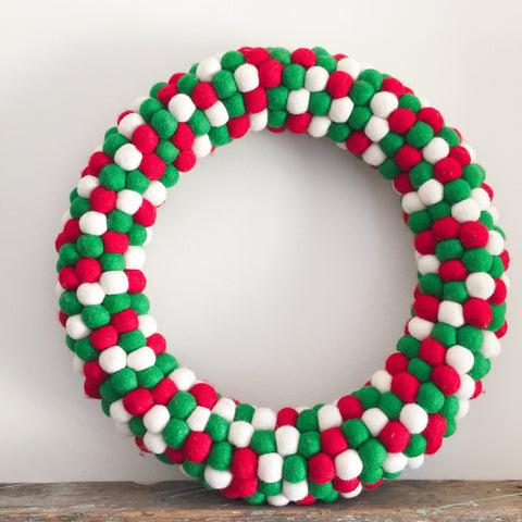 Felt Ball Wreath - Christmas Cheer  Winston + Grace