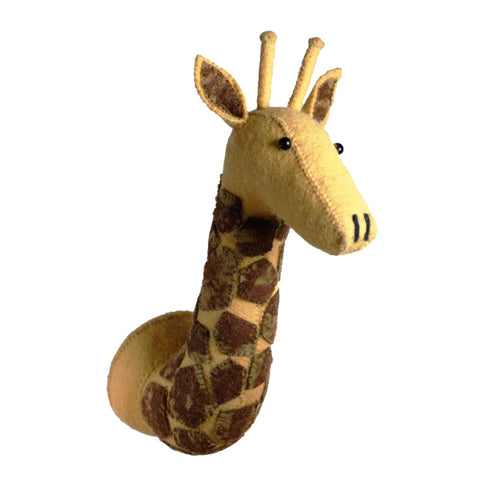 Fiona Walker Felt Animal Head - The Giraffe (Brown spot Large)  Winston + Grace