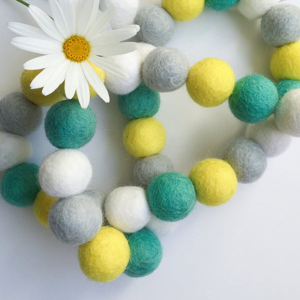 Bunchie Felt Ball Garland - Wattle it Be Accessories Winston + Grace