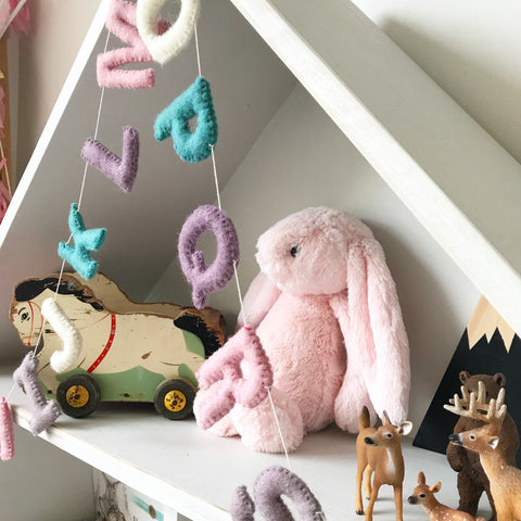 Felt Alphabet Garland - VoVo Accessories Winston + Grace