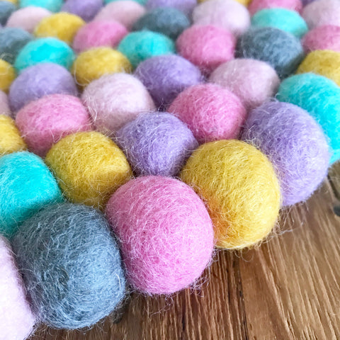 Felt Ball Rug - Unicorns in the Mist  Winston + Grace