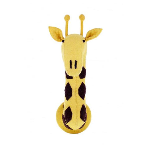 Fiona Walker Felt Animal Head - The Giraffe (Black spot) Large