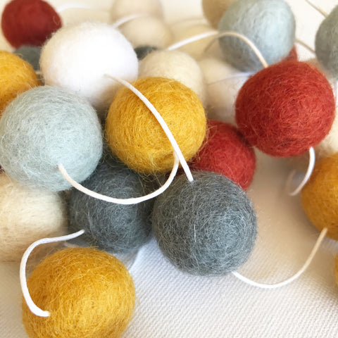 Felt Ball Garland - Rustic Moon Accessories Winston + Grace