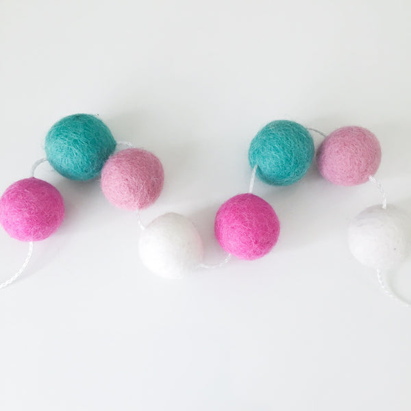 Felt Ball Garland - Coconut Ice Accessories Winston + Grace