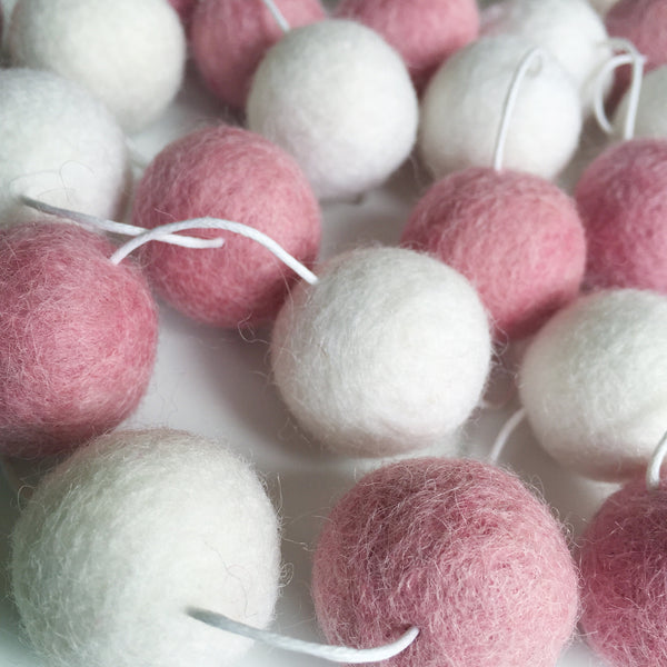 Felt Ball Garland - Cotton Candy Accessories Winston + Grace